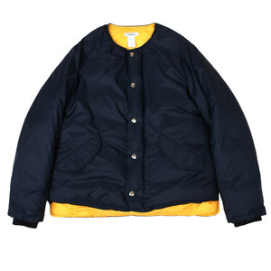 <B>SWELLMOB</B><br>collarless down jacket<br>-airforce navy-
