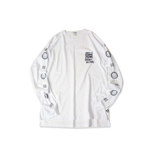 <B>SWELLMOB</B><br>double delight long sleeve t-shirts <br>-white-