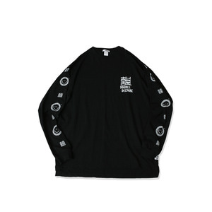 <B>SWELLMOB</B><br>double delight long sleeve t-shirts <br>-black-