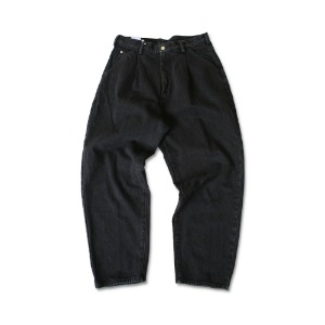 <B>SWELLMOB<br></b>Officer denim trousers<br>-washed black-