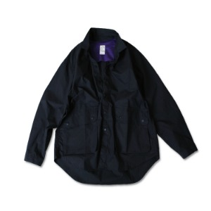 <B>SWELLMOB<br></b>Cotton fisherman shirts<br>-navy-