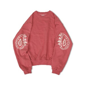 <B>SWELLMOB<br></b>Paisley 90's sweat shirts Chocyan collaboration<br>-pigment red-
