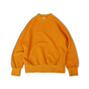 <B>SWELLMOB<br></b>Hi-neck raglan sweat shirts<br>-mustard-