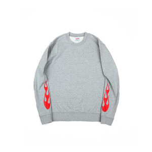 Swellmob Hot flame sweat shirts-grey-